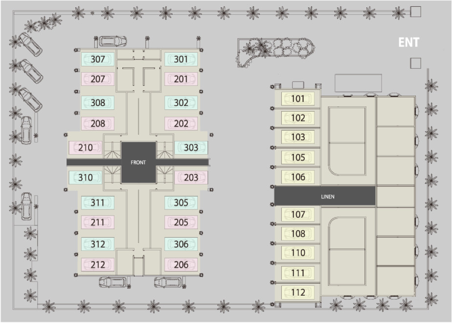 ホテル敷地図